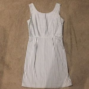 The limited white and black striped dress